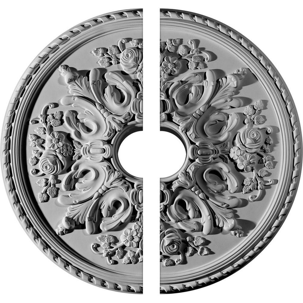 medallion hardwood flooring company of ekena millwork bradford ceiling medallion unfinished polyurethane within 671490 5788b46c27b6d