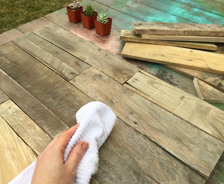 minwax 32 oz hardwood floor cleaner of vertical garden makeover diy herb markers with i spy diy minwax inside 8 wipe clean pallet wood minwax succulent pallet