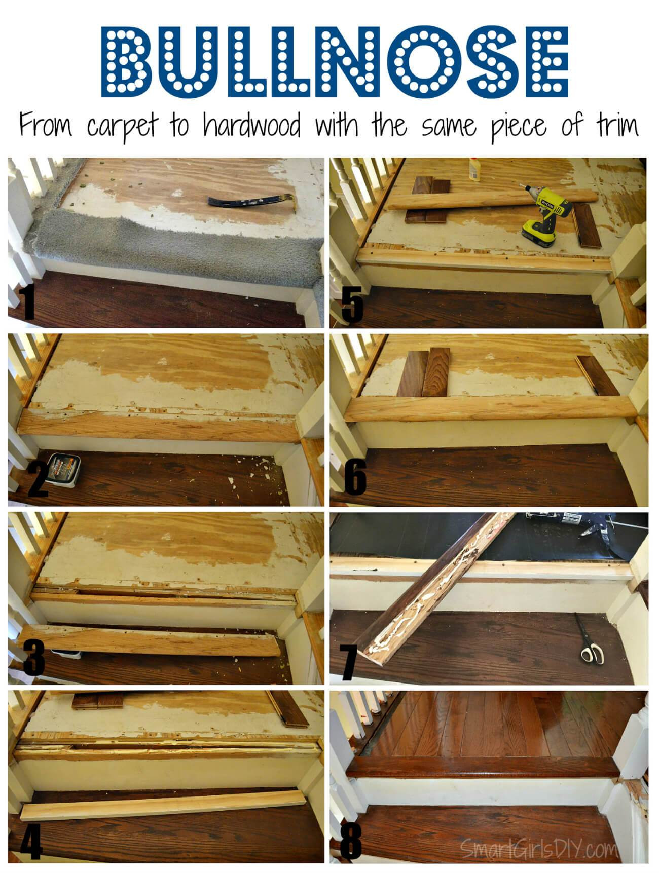 nail down hardwood floor installation cost of upstairs hallway 1 installing hardwood floors in bullnose from carpet to hardwood with the same piece of trim