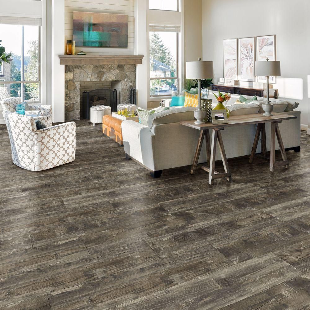 oak hardwood flooring pros and cons of allure isocore normandy oak taupe 8 7 in x 47 6 in luxury vinyl within normandy oak taupe luxury vinyl plank flooring 20 06 sq ft case i106515 the home depot