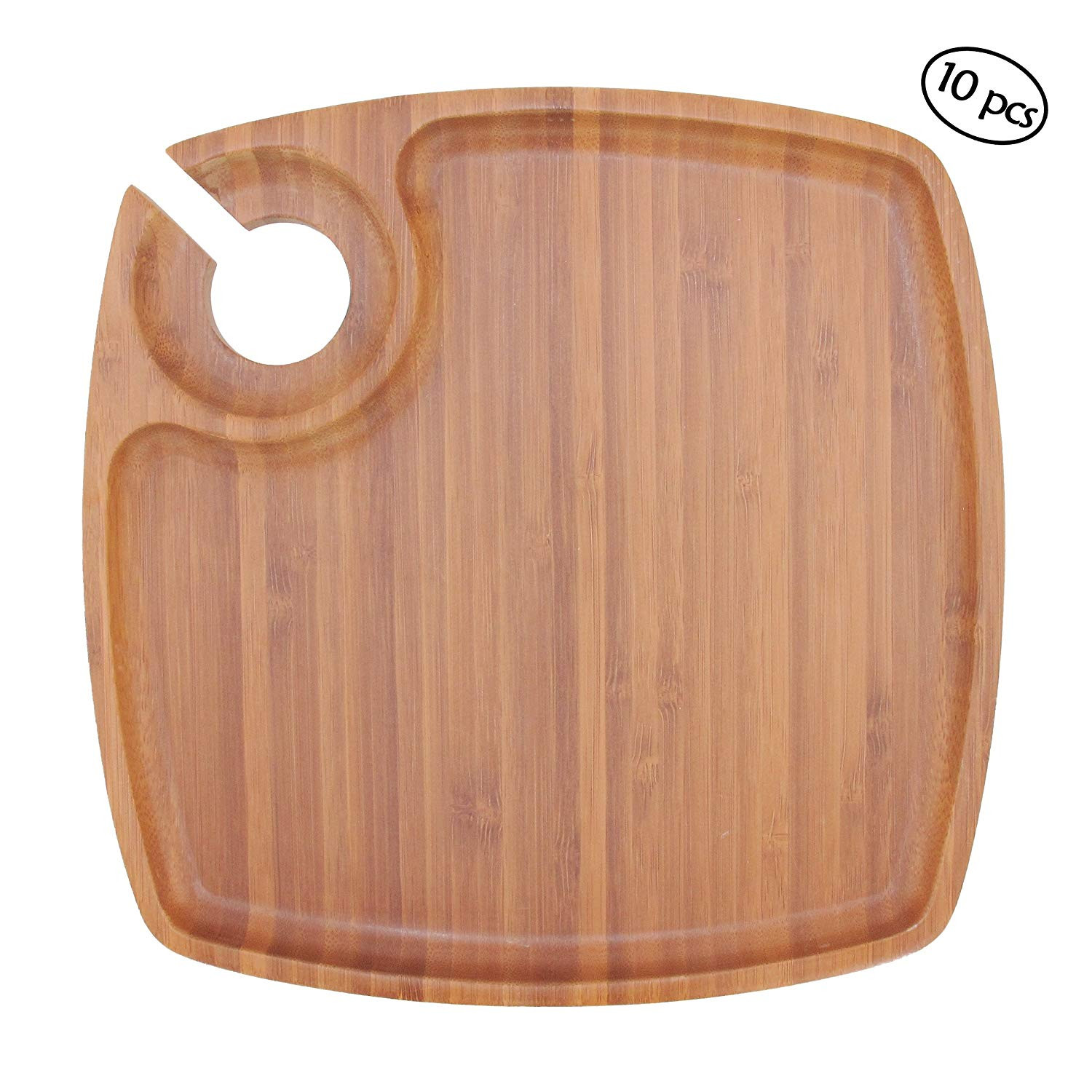 palm acacia hardwood flooring of amazon com bamboomn 10 x 10 bamboo ecoware reusable dinnerware within amazon com bamboomn 10 x 10 bamboo ecoware reusable dinnerware cup wine holder square plates for catered events holidays or home use supplies