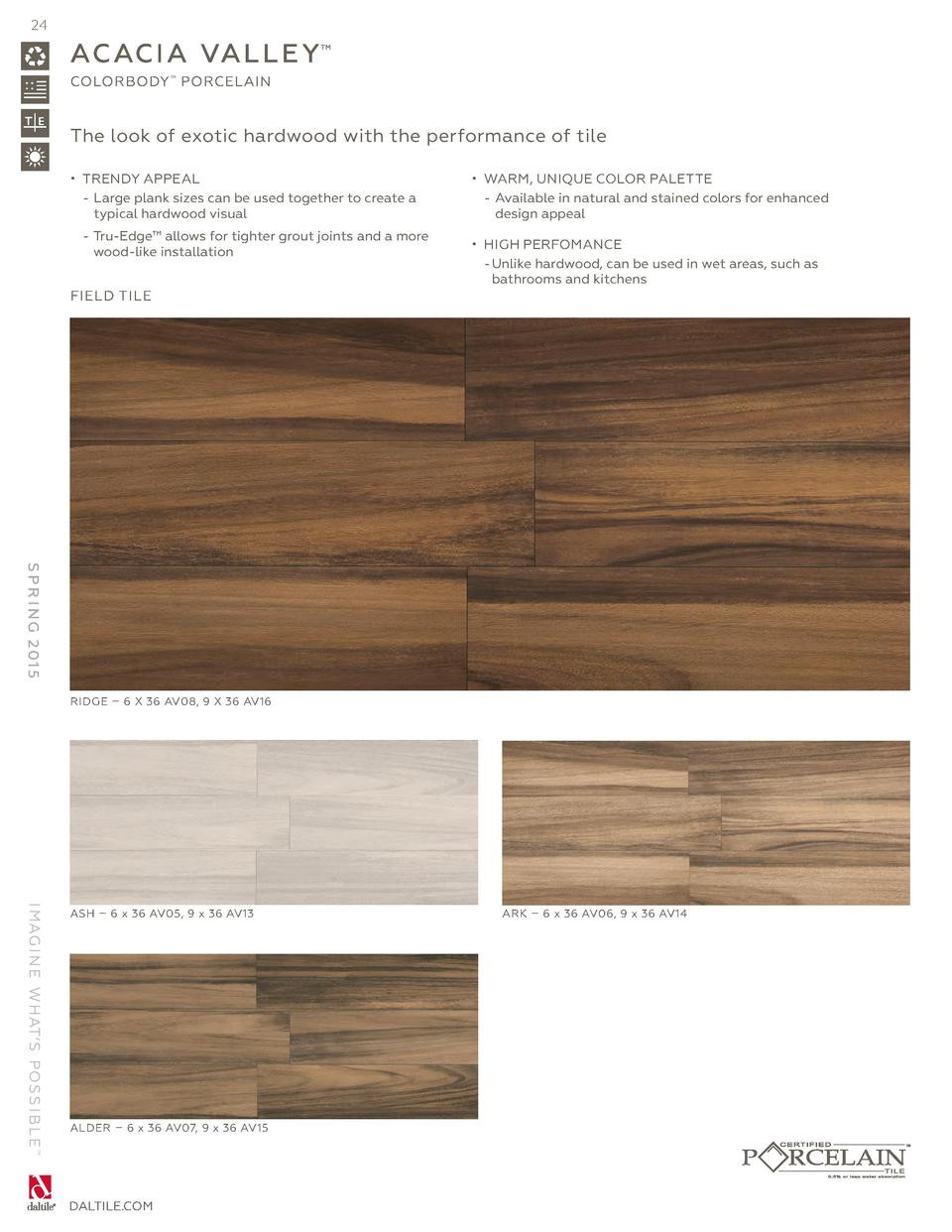 palm acacia hardwood flooring of daltile spring 2015 catalog simplebooklet com with 24 ac ac i a val l e y colorbody porcelain the look of exotic hardwood with the performance