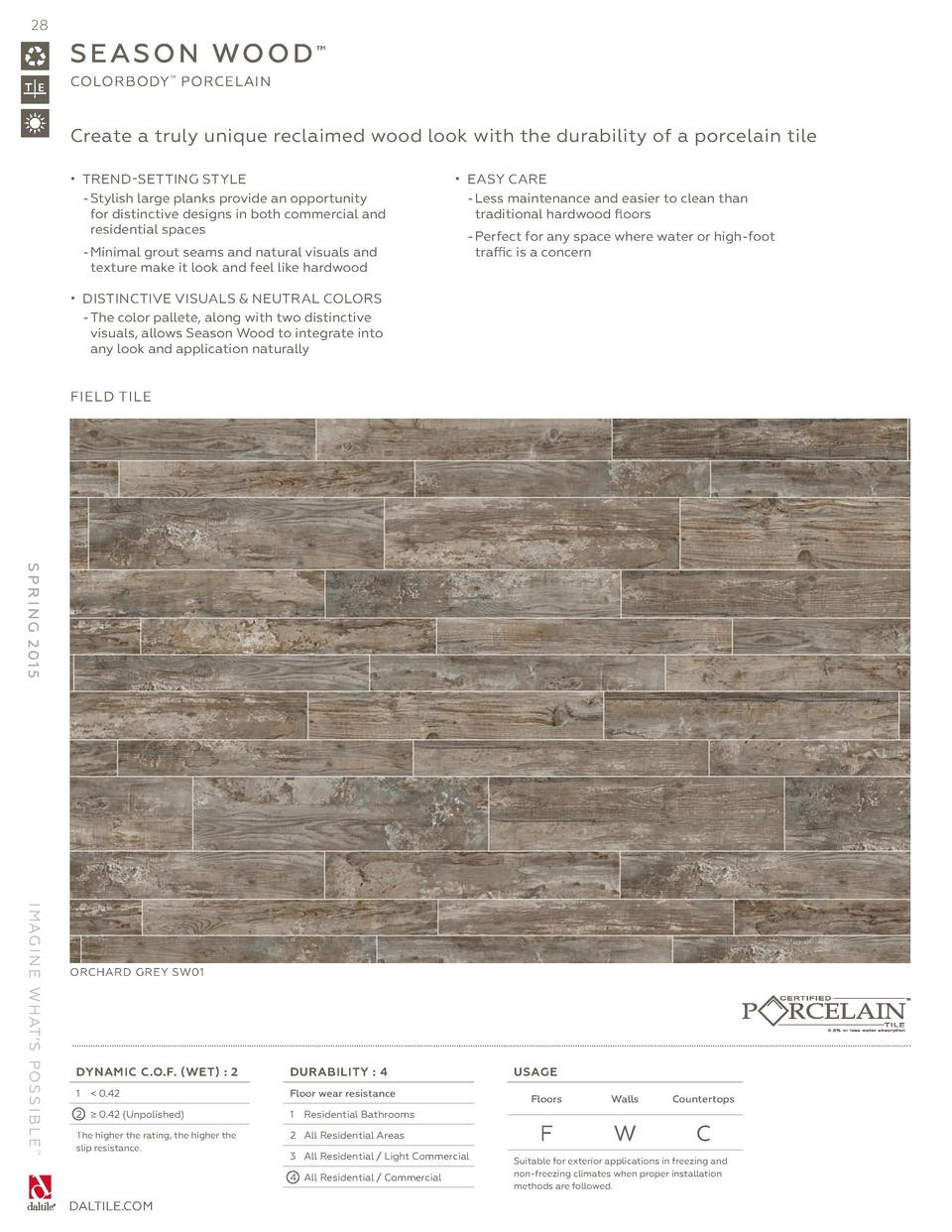 pb hardwood and laminate floor cleaner of daltile spring 2015 catalog simplebooklet com with regard to 28 s e a s o n wo o d colorbody porcelain create a truly unique reclaimed wood look with the durability