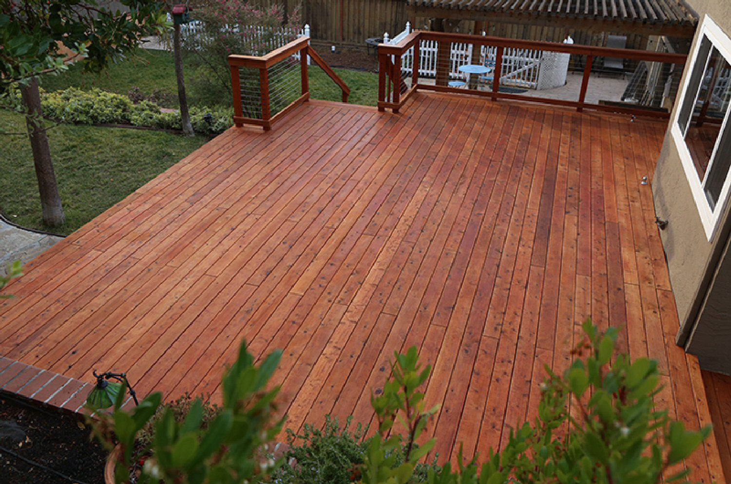 pc hardwood floors linden nj of the best woods for decks and porches within redwood deck 4q7b7981 web crop 59853a4e054ad90011d5f0fc