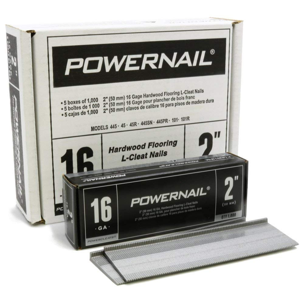 pc hardwood floors reviews of amazon com powernail powercleat 16ga 2 l cleat box of 5000 home within amazon com powernail powercleat 16ga 2 l cleat box of 5000 home improvement
