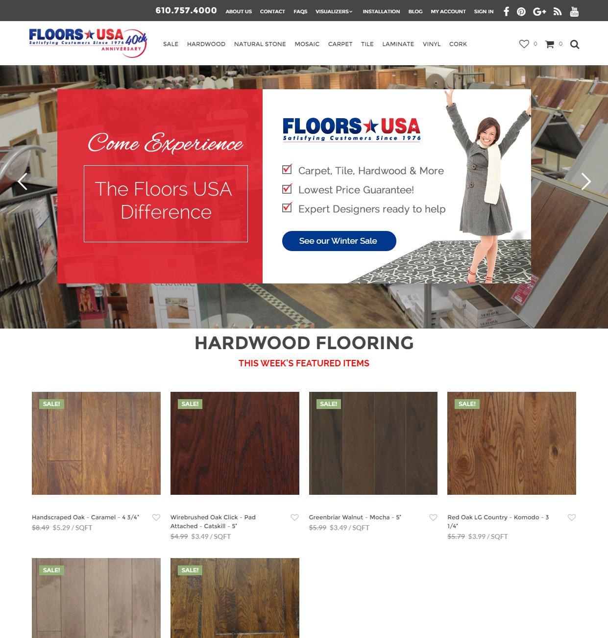 pc hardwood floors supplies of web design internet marketing google adwords local optimization plus regarding custom ecommerce wordpress site for flooring store in philadelphia