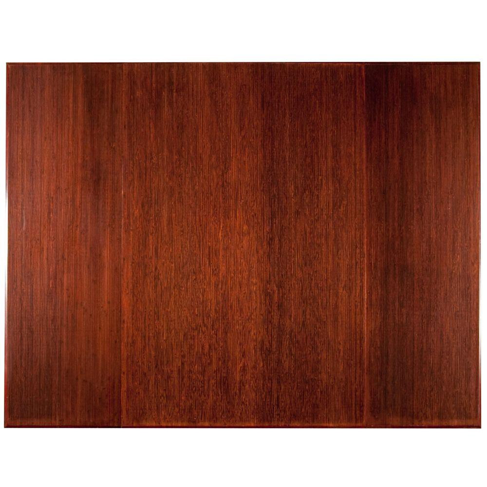 pc hardwood floors waterbury ct of chair mats mats the home depot with regard to plush dark brown mahogany 47 in x 60 in bamboo tri fold