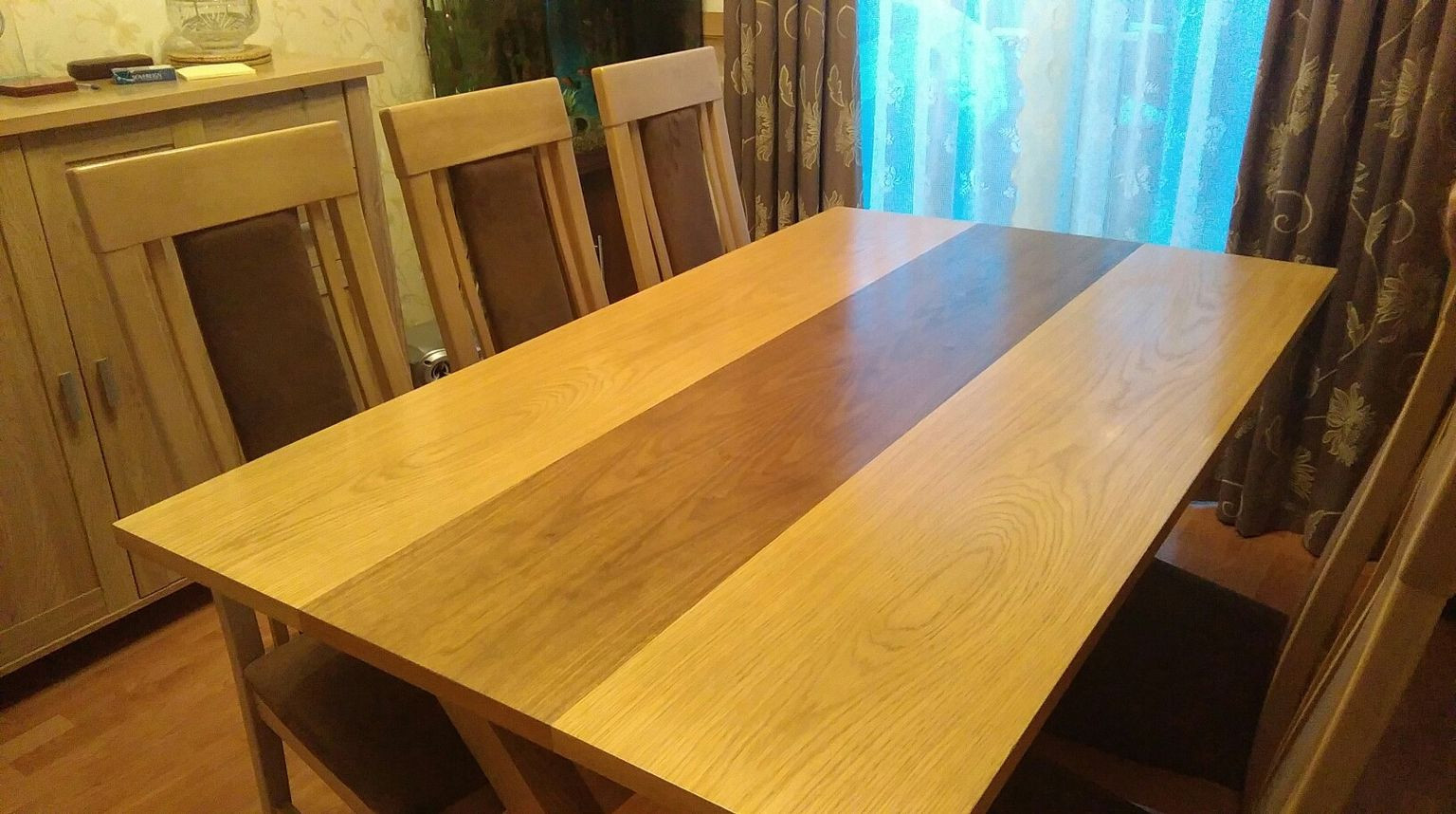 pictures of cupping hardwood floors of https en shpock com i wngy3y v3gw1i0w 2017 03 29t234318 with regard to dining table and 6 chairs 6ce6d764