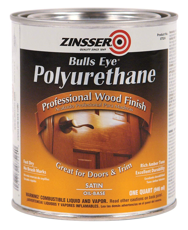 polyurethane drying time hardwood floors of rust oleum zinsser 7524 1 quart bulls eye polyurethane satin intended for rust oleum zinsser 7524 1 quart bulls eye polyurethane satin household varnishes amazon com