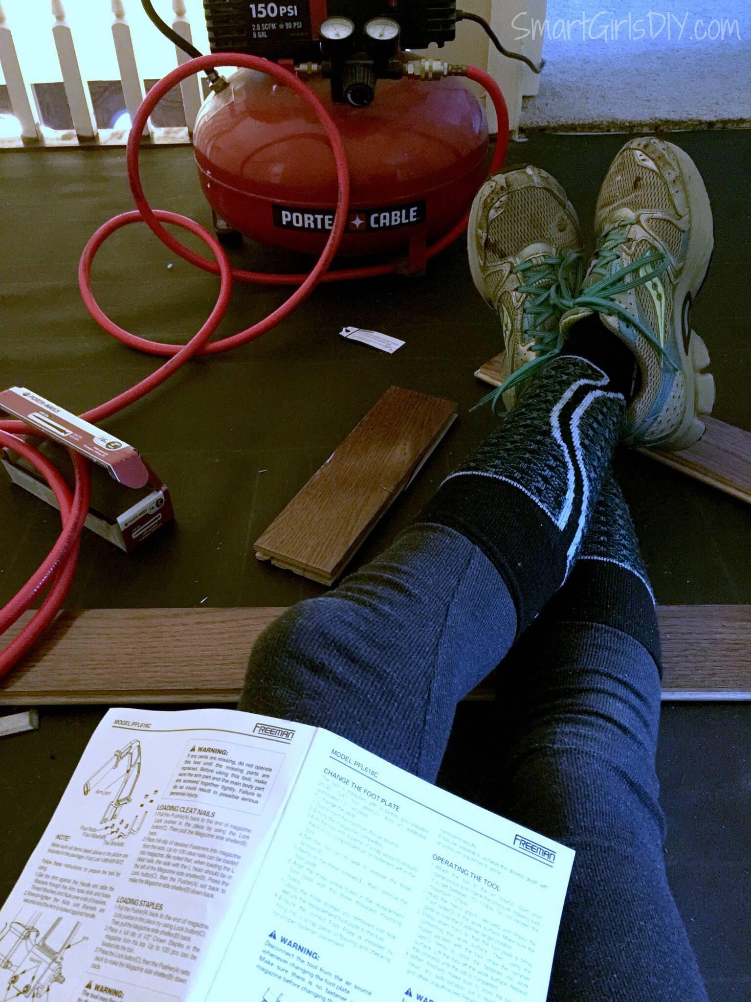 porta nailer hardwood floor nailer of upstairs hallway 1 installing hardwood floors within fixing a jammed up floor nailer