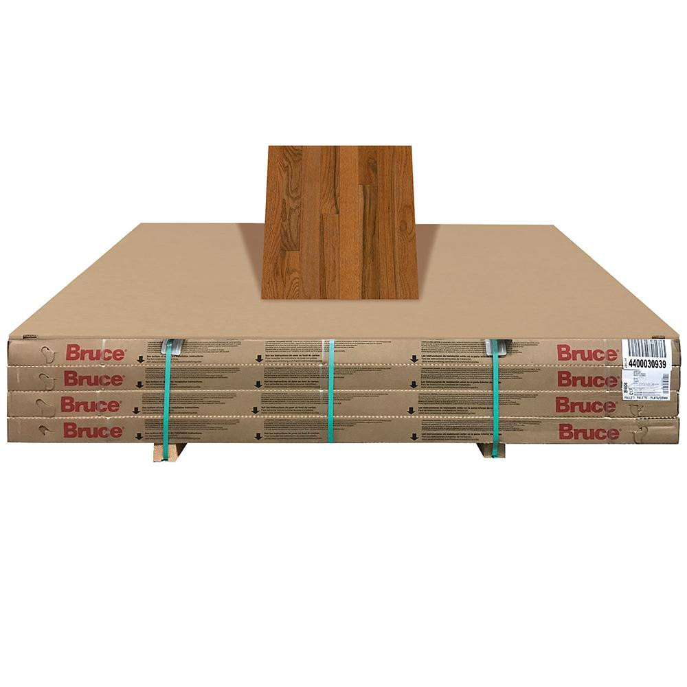 Prefinished Hardwood Flooring Maine Of Red Oak solid Hardwood Hardwood Flooring the Home Depot Intended for Plano Oak Gunstock 3 4 In Thick X 3 1 4 In