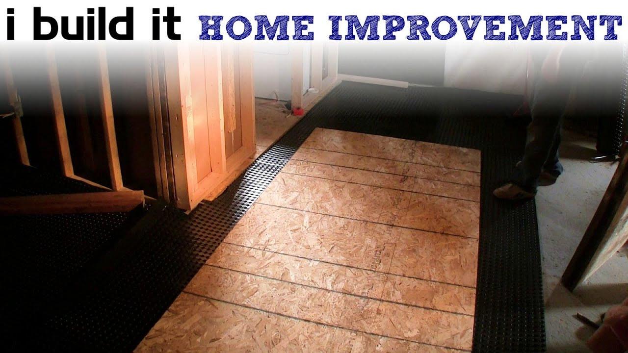 putting hardwood floor on concrete slab of installing the subfloor in the basement youtube with regard to installing the subfloor in the basement