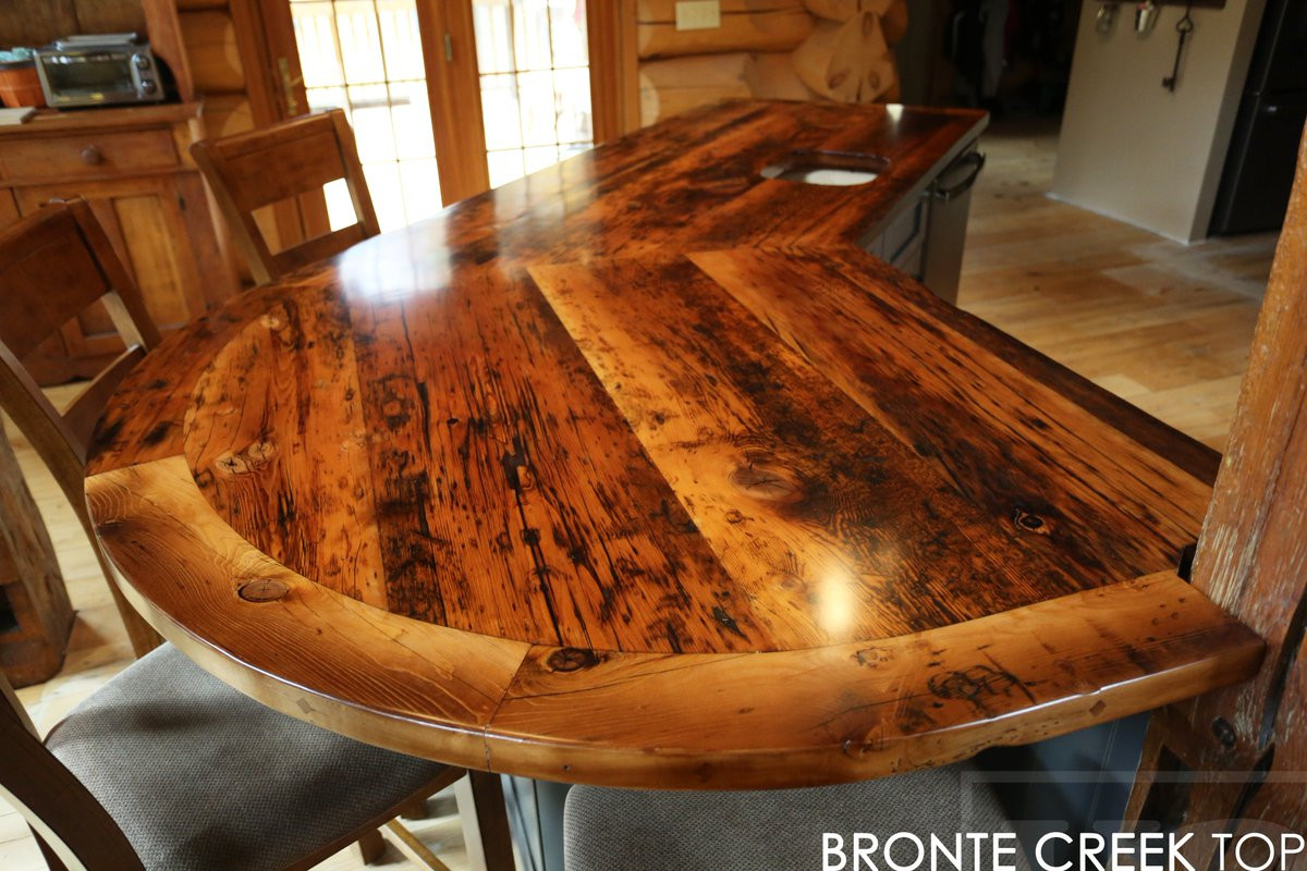 reclaimed hardwood flooring ontario of mennonitefurniture hashtag on twitter intended for reclaimed wood island top with epoxy satin polyurethane finish we made for rustic ontario cottage http www hdthreshing com reclaimedwoodfurniture