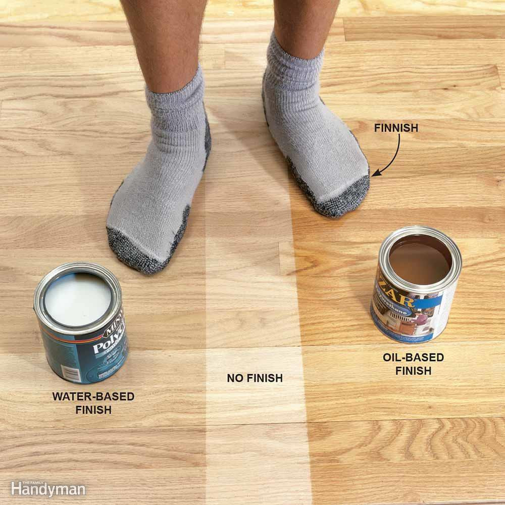recommended humidity level for hardwood floors of tips for using water based varnish the family handyman with oil based floor finish