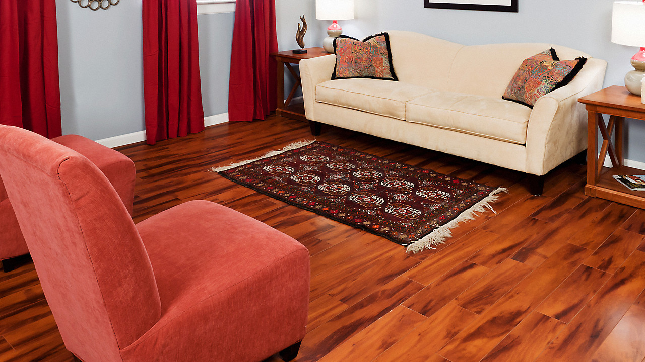 Red Oak Mocha Hardwood Floors Of 12mm Pad Brazilian Koa Laminate Dream Home St James Lumber Regarding Dream Home St James 12mmpad Brazilian Koa Laminate