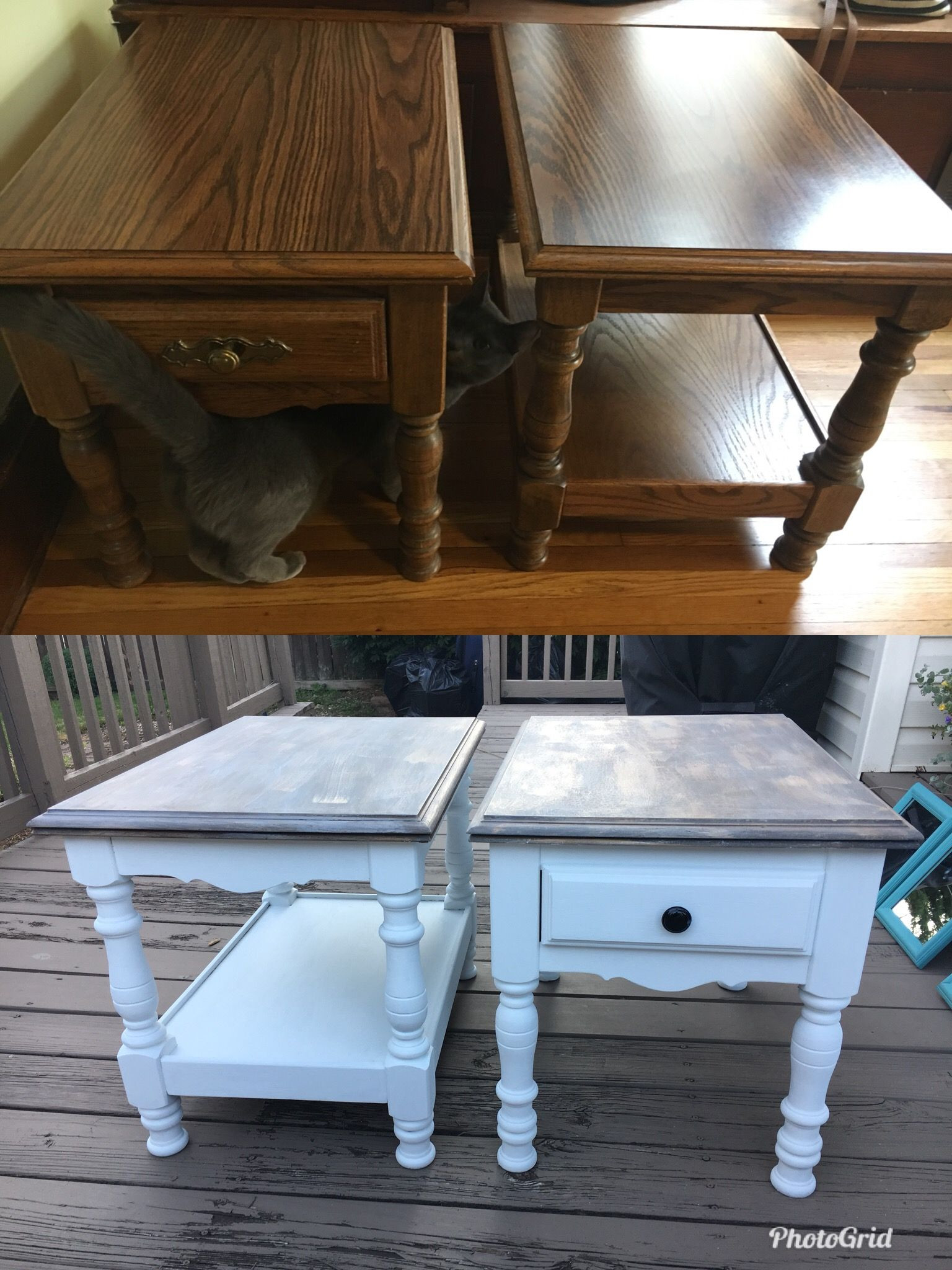 refinish hardwood floors or paint first of i used chalk paint from walmart for the table top i did a grey in i used chalk paint from walmart for the table top i did a grey chalk