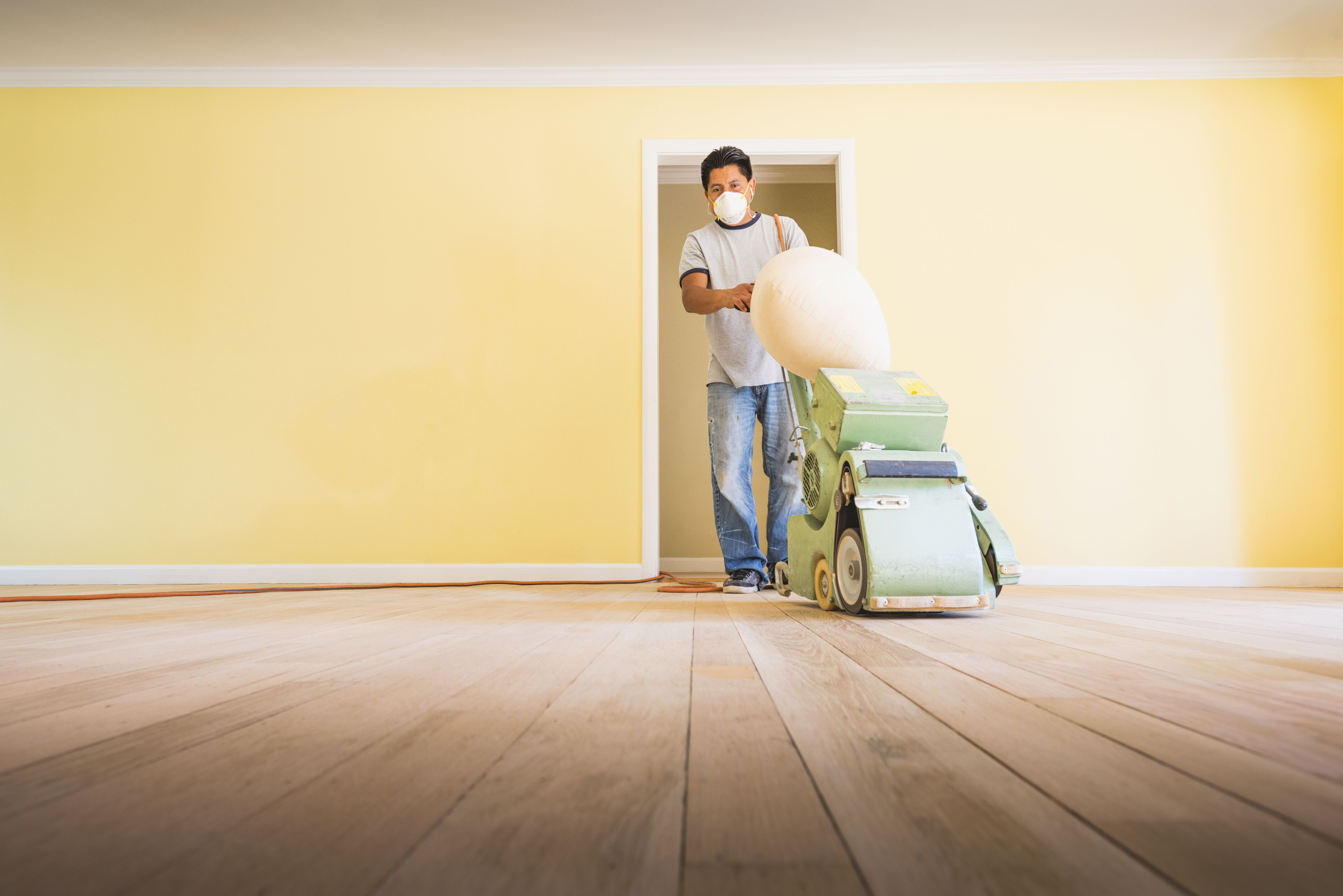 refinishing hardwood floors after carpet of should you paint walls or refinish floors first throughout floorsandingafterpainting 5a8f08dfae9ab80037d9d878