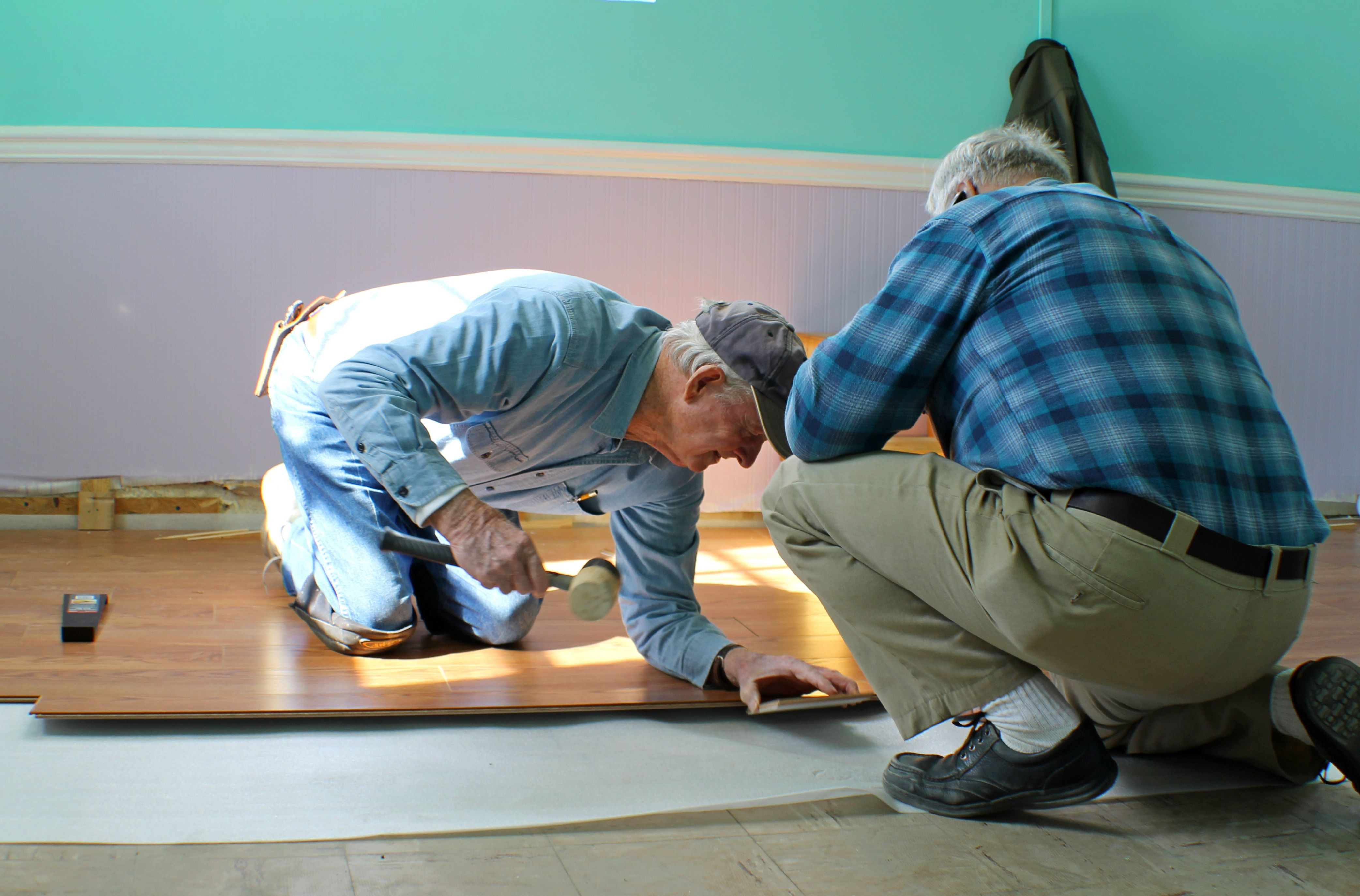 replacing glued down hardwood floor of common flooring types currently used in renovation and building for laminate floor assembly setting tongue and groove 5ba27f2146e0fb00241f7302 jpg