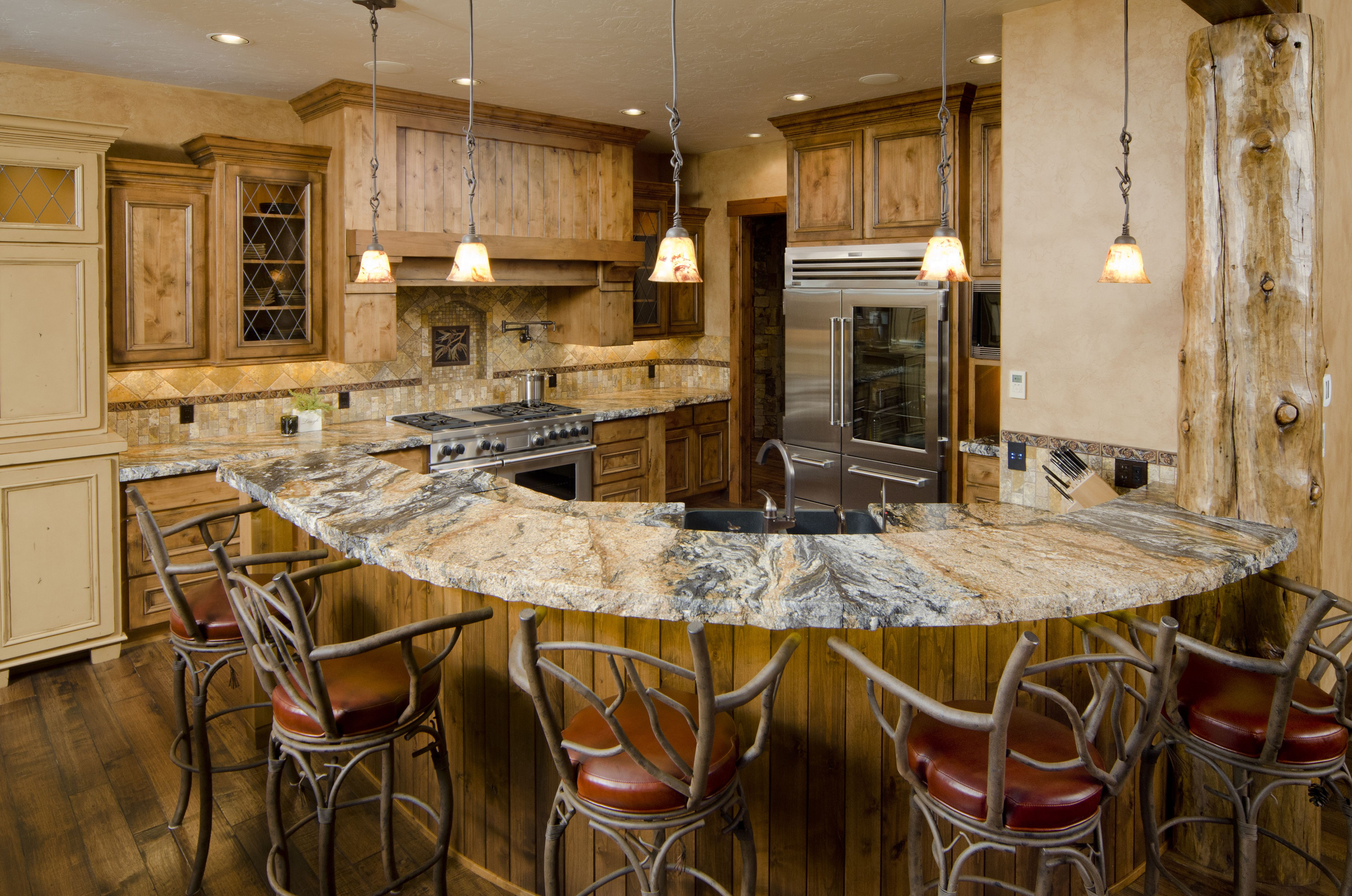rustic painted hardwood floors of gorgeous kitchens with wooden flooring with regard to modern kitchen with rustic wood floor and curved bar 154946557 ross chandler 56a4a16c5f9b58b7d0d7e645