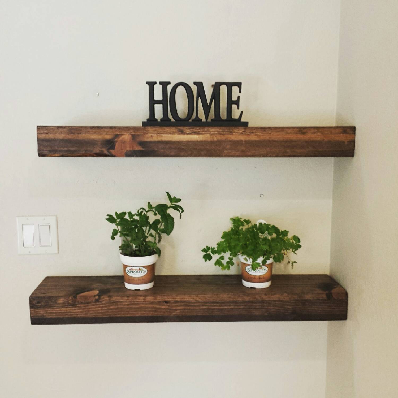 "Rustic Walnut Hardwood Flooring Of Rustic Reclaimed Wood Floating Shelves Wall Shelf Wooden Etsy with Regard to DŸ""Žzoom"