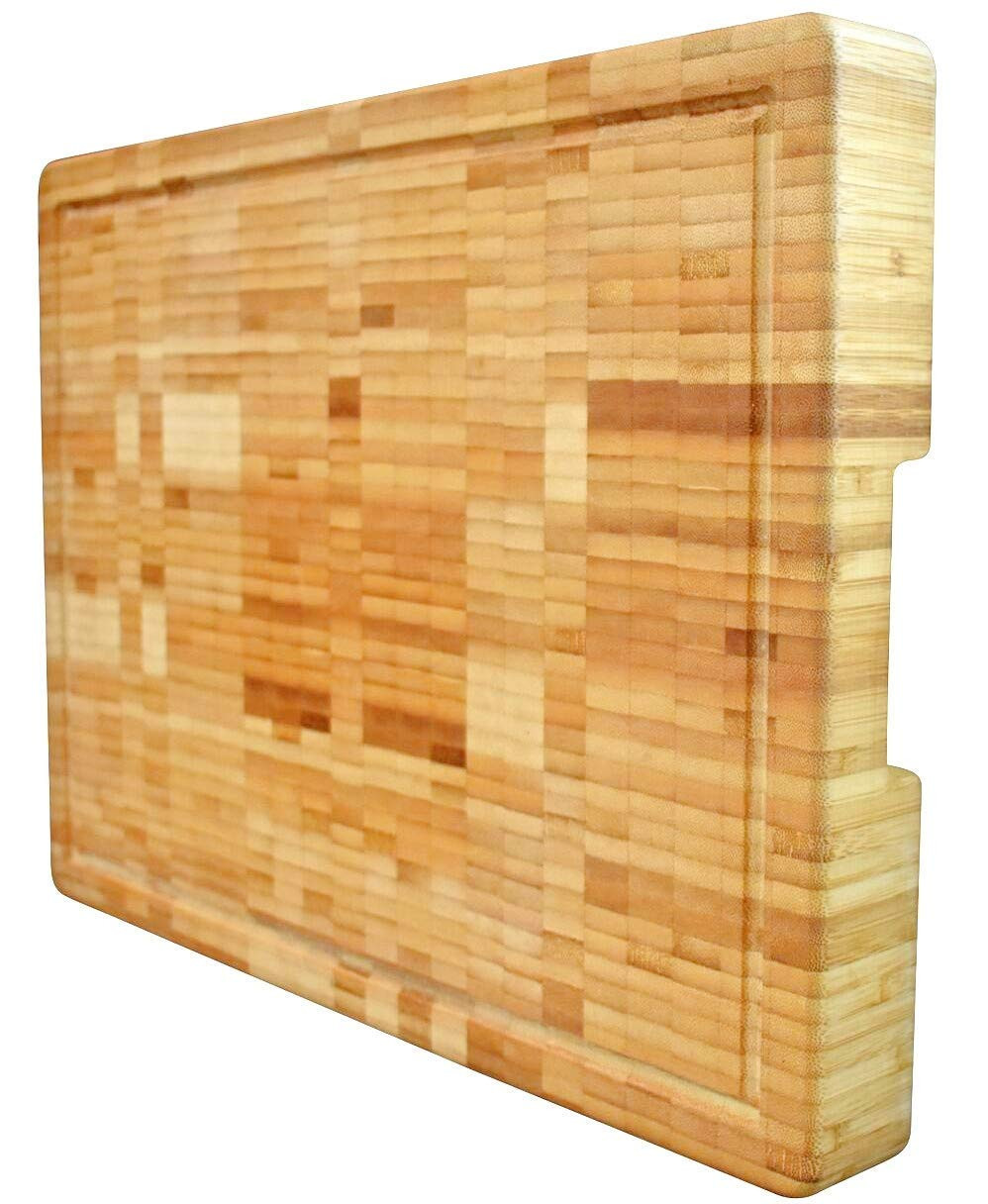 sanding hardwood floors against the grain of amazon com extra large organic bamboo cutting board end grain with regard to amazon com extra large organic bamboo cutting board end grain butcher block thick heavy solid 18x 13 x 2 inch anti bacterial wood great for wooden