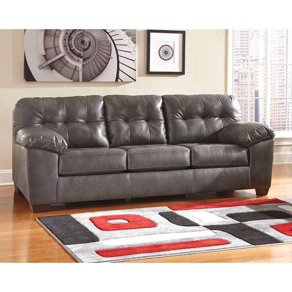 schafer hardwood flooring company of amazon com ashley furniture signature design alliston inside amazon com ashley furniture signature design alliston contemporary upholstered sofa gray kitchen dining