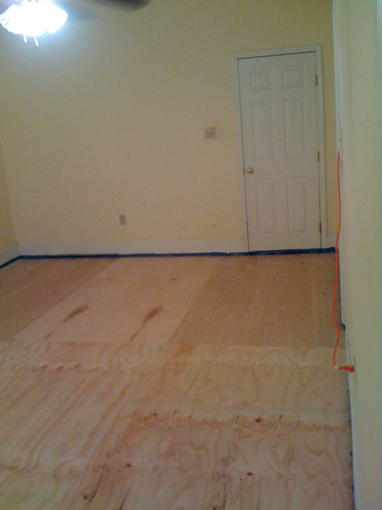 shoe molding for hardwood floors of diy plywood floors 9 steps with pictures intended for picture of install the plywood floor