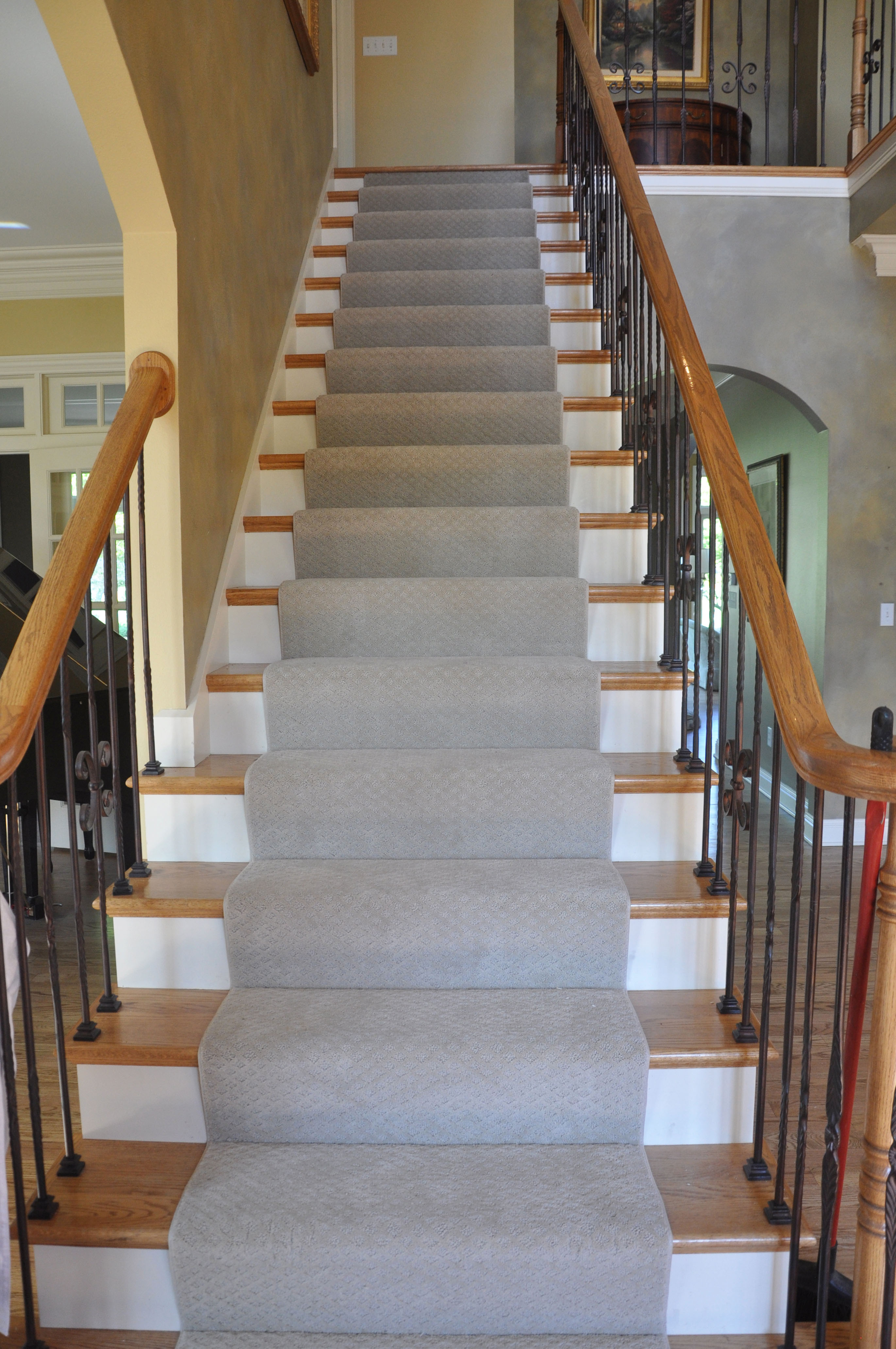 should hardwood floors match stairs of hardwood stair treads staircasing installation milwaukee wi regarding click image to enlarge