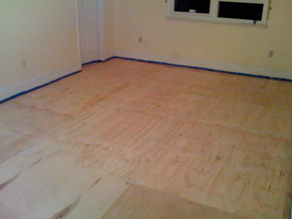 should i put hardwood floors in my kitchen of diy plywood floors 9 steps with pictures for picture of install the plywood floor