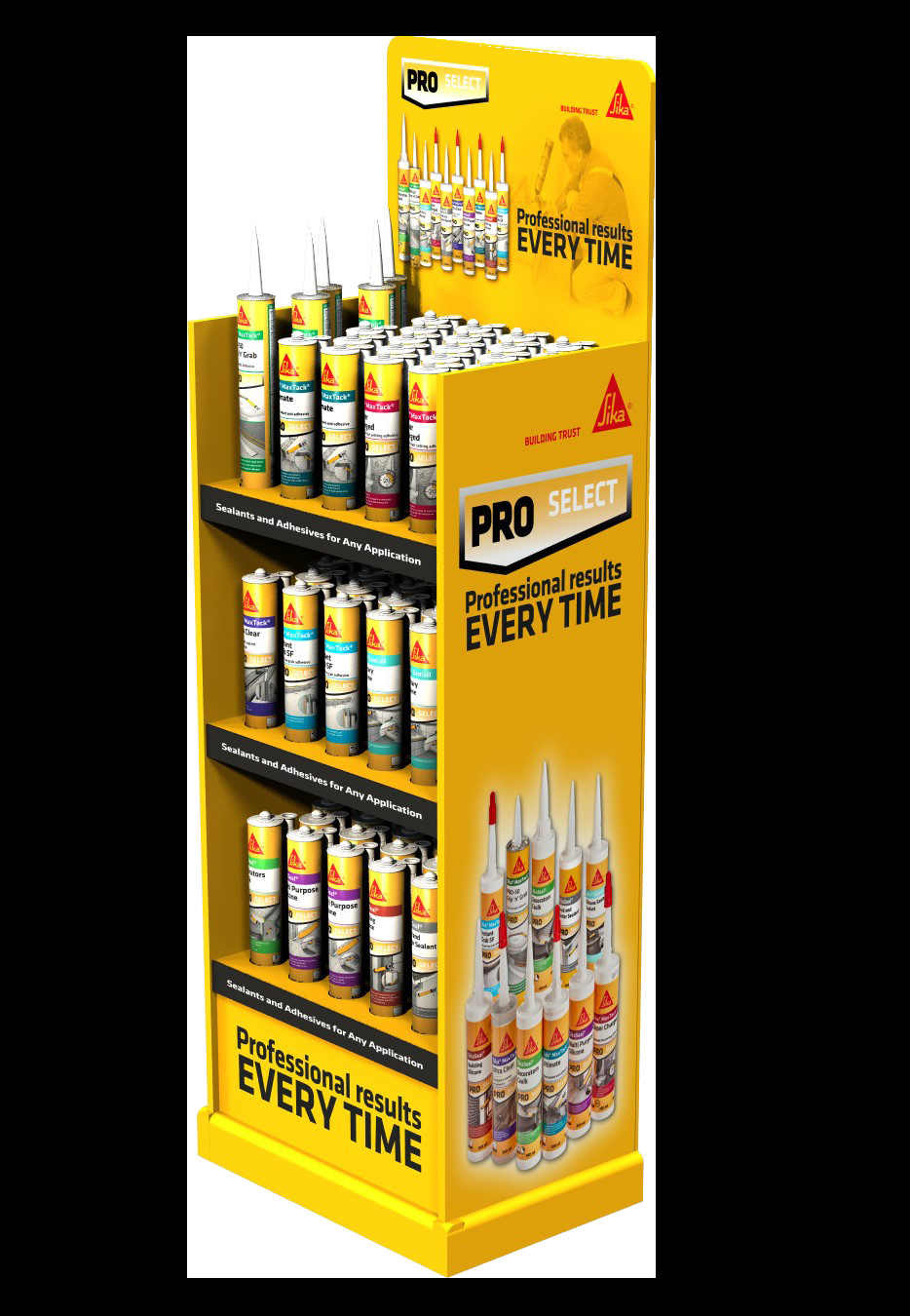 sika hardwood floor glue of sikaa pro select free standing display unit everbuild for sika pro select free standing display unit
