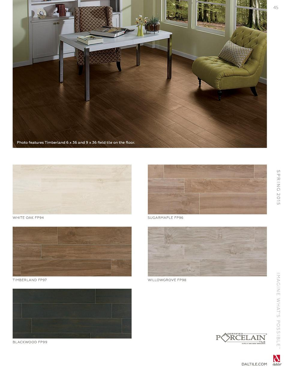 speckled elm hardwood flooring of daltile spring 2015 catalog simplebooklet com within 45 photo features timberland 6 x 36 and 9 x 36 field tile on the floor