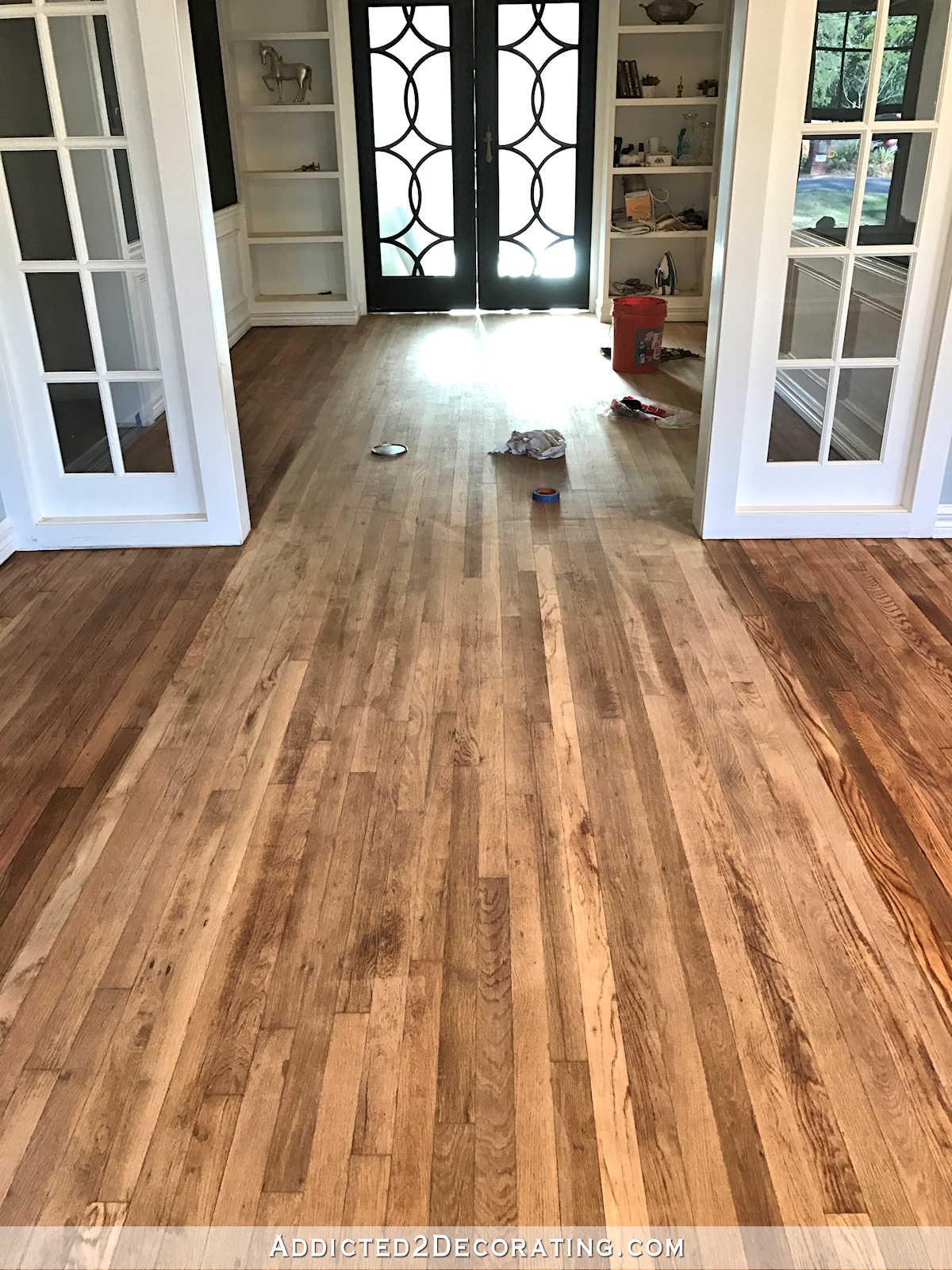 staining hardwood floors darker cost of adventures in staining my red oak hardwood floors products process inside staining red oak hardwood floors 5 music room wood conditioner