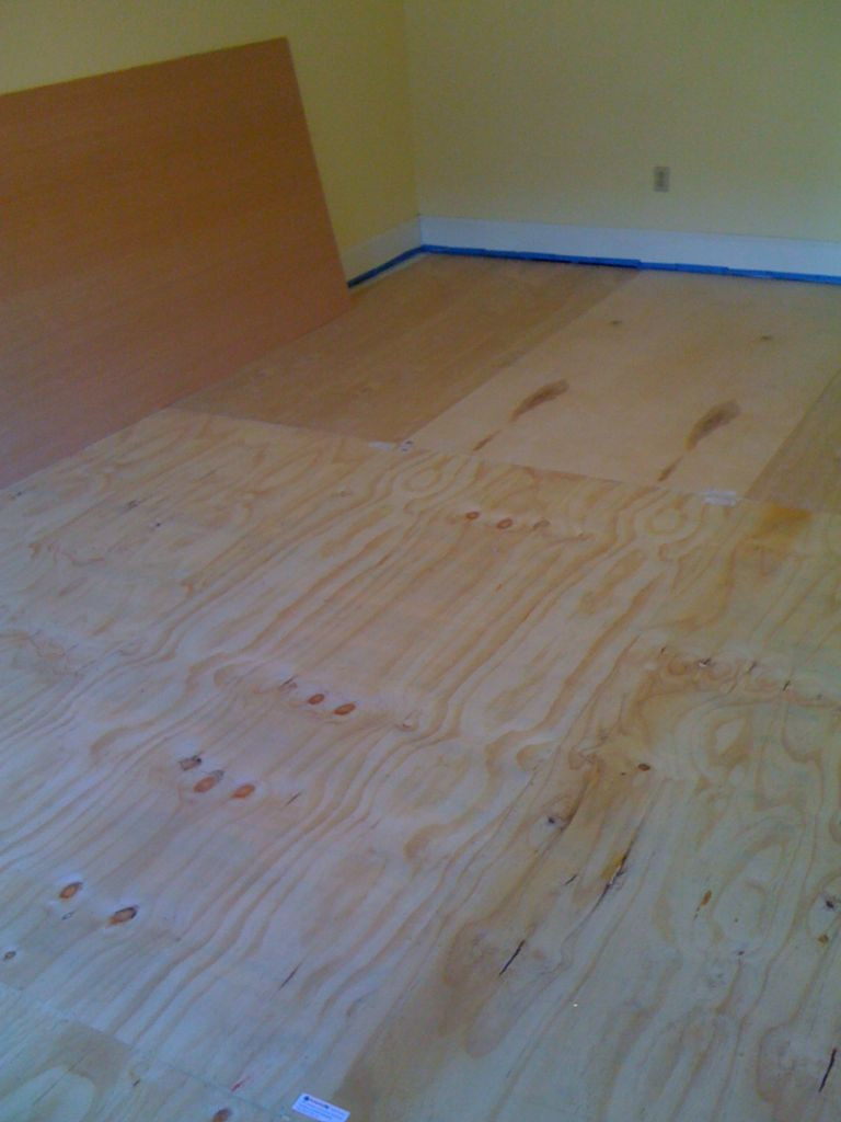 Staining Hardwood Floors How Long to Dry Of Diy Plywood Floors 9 Steps with Pictures Intended for Picture Of Install the Plywood Floor
