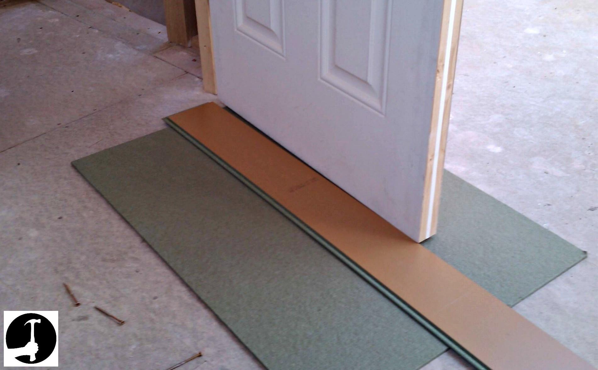 standard hardwood flooring sizes of how to install laminate flooring with ease glued glue less systems regarding laminate door bottom