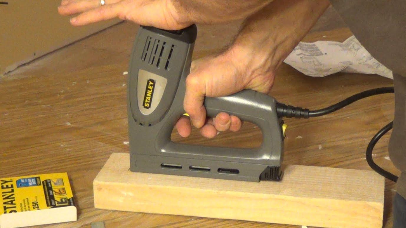 stanley hardwood floor nailer of stanley electric staple nail gun tre550 youtube inside maxresdefault