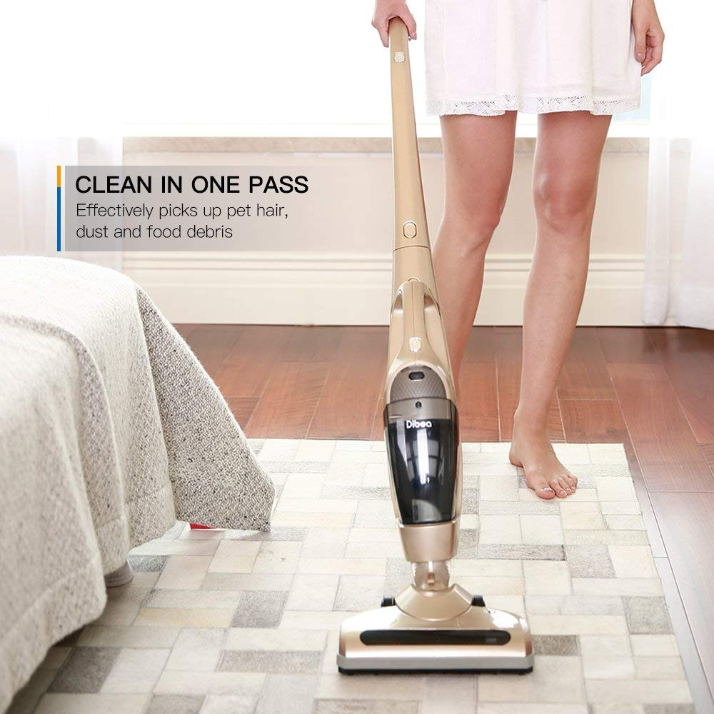 top vacuum cleaners for hardwood floors of amazon com dibea kb 9008 cordless upright vacuum cleaner 2 in 1 inside amazon com dibea kb 9008 cordless upright vacuum cleaner 2 in 1 stick and handheld car vacuum with rechargeable 2200mah li ion battery and charging base