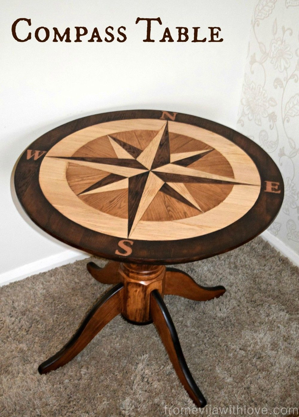 total hardwood flooring pickering of diy compass table fffc september contest geometric design intended for diy wood and stain compass rose table using floor planks cut out like a puzzle fabulous