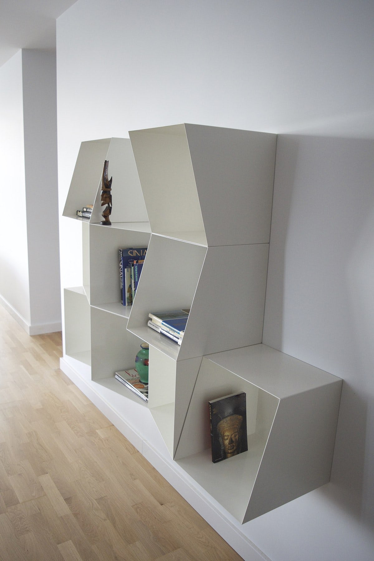totem hardwood flooring reviews of shop totem angular bookcase cubes on crowdyhouse within totem angular bookcase cubes designed by design by nico made in united kingdom uk