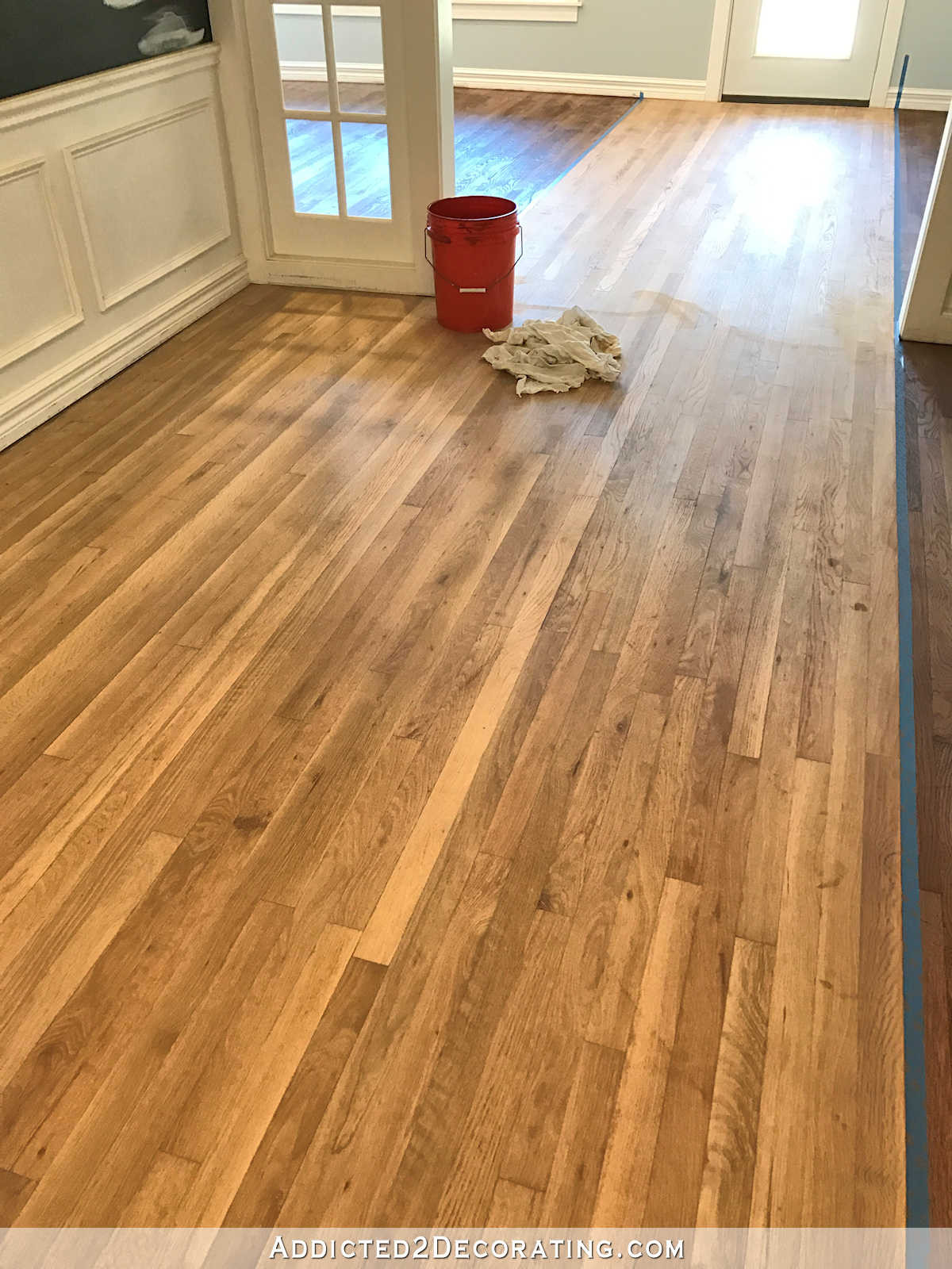 uneven hardwood floor repair of adventures in staining my red oak hardwood floors products process in staining red oak hardwood floors 8 entryway and music room wood conditioner