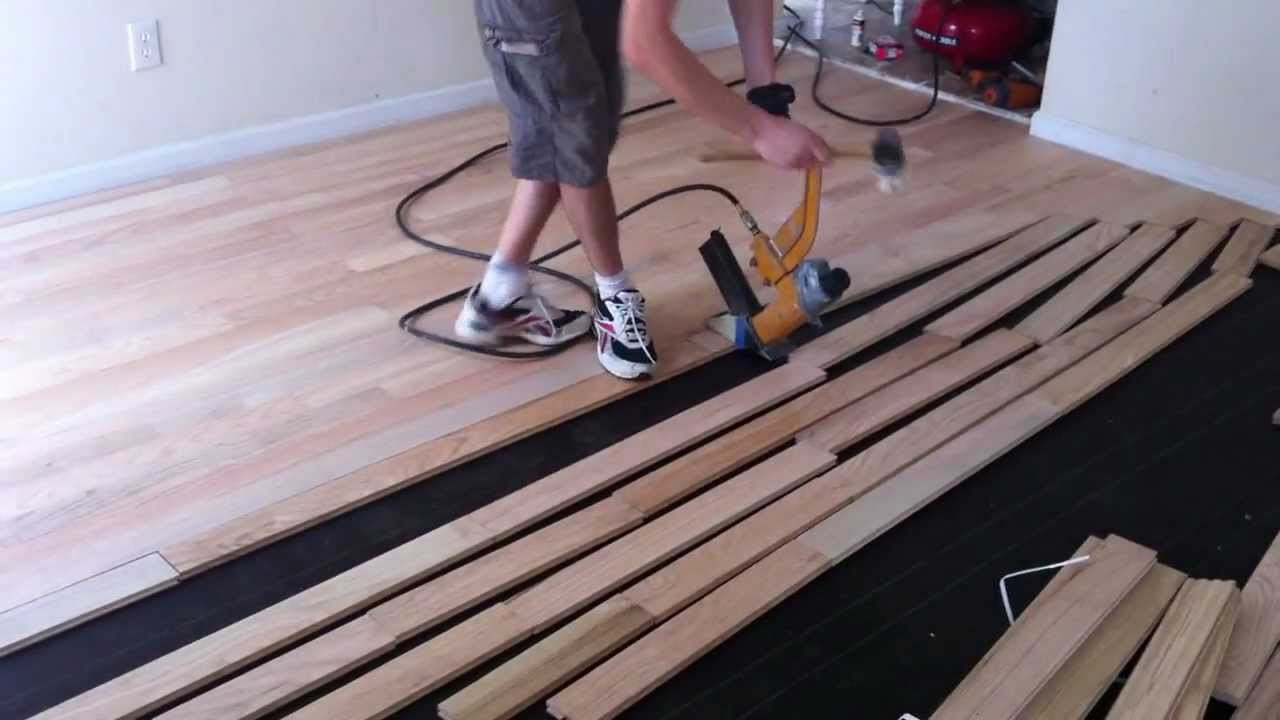 unfinished hardwood flooring of how to lay wood flooring flisol home pertaining to how to install nail down unfinished