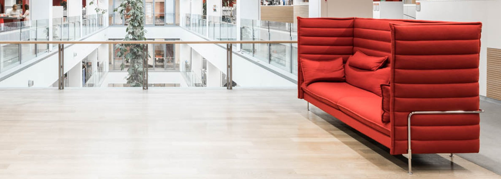 universal hardwood flooring toronto of home pertaining to image of lounge area with red sofas and open space in adhesive technologies building at henkel