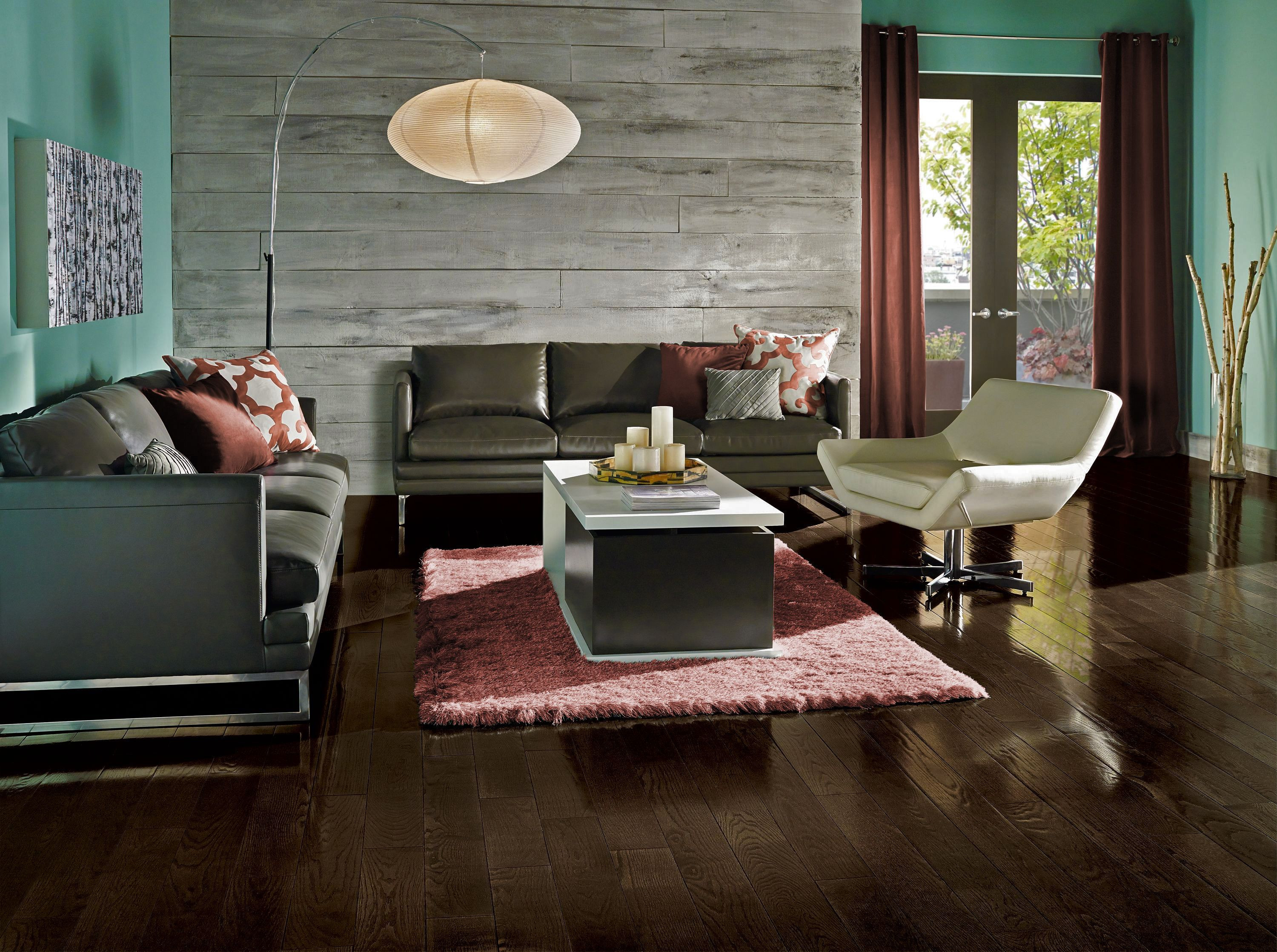 using hardwood flooring on walls of marsala accents melt together with luxurious oak hardwood in within flooring