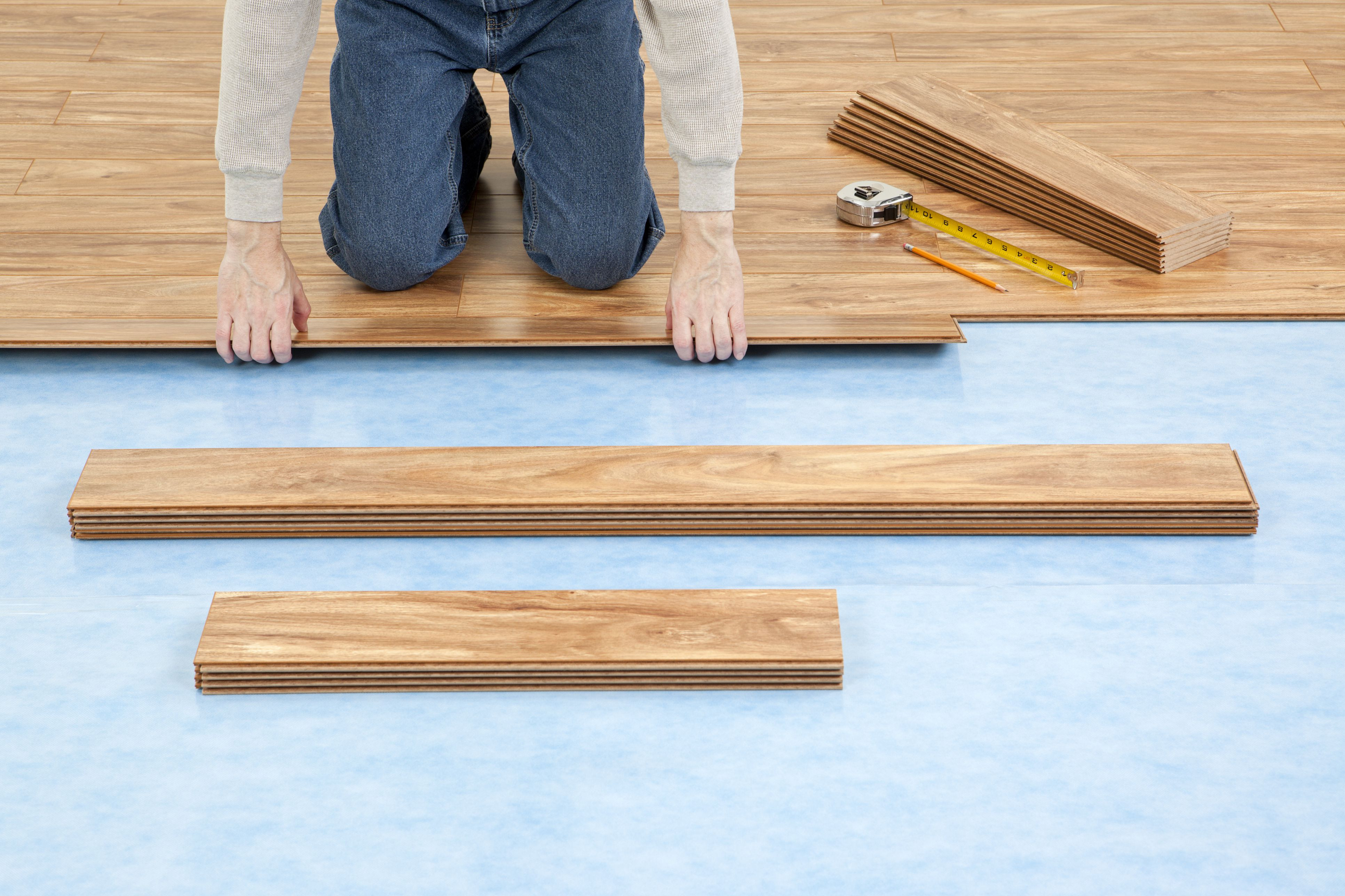 Vapor Barrier for Hardwood Floor Installation Of Installing Laminate Flooring with attached Underlayment for New Floor Installation 155283725 582735c03df78c6f6af8ac80