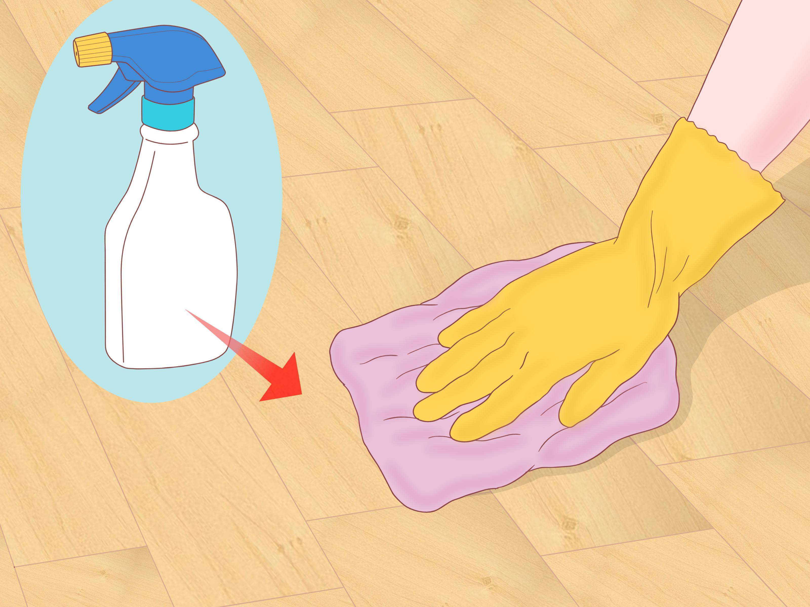 vinegar water ratio for cleaning hardwood floors of 3 ways to clean parquet floors wikihow pertaining to clean parquet floors step 12