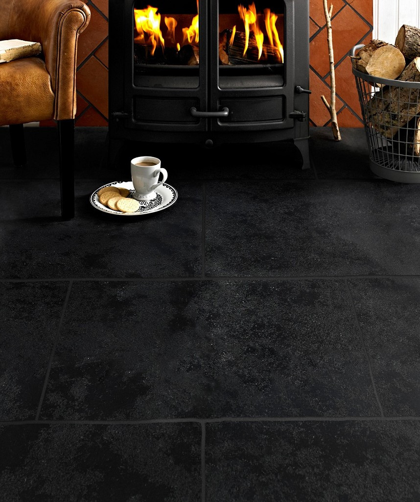 Vintage Hardwood Flooring Prices Of Antique Avebury Black Tile topps Tiles Throughout Hd631058 Antique Avebury Black Tile 2