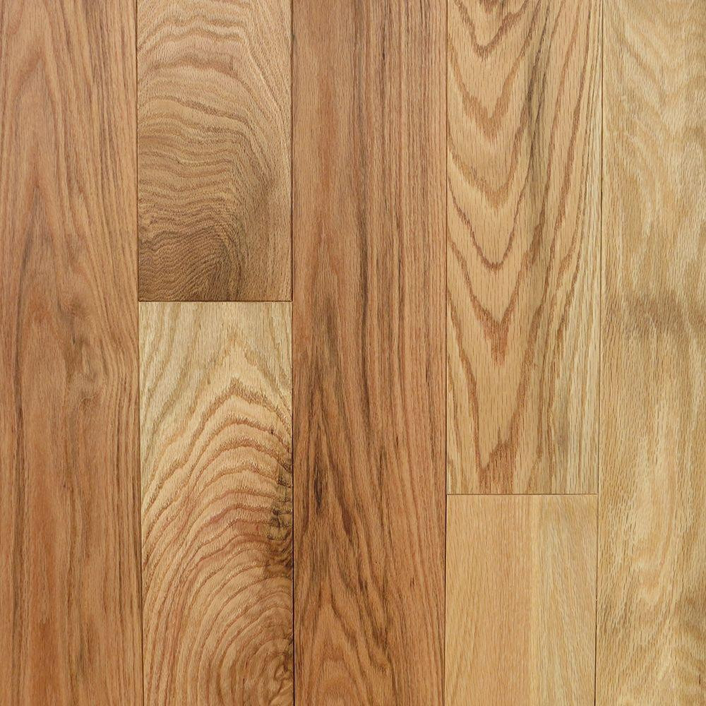 Walnut Hardwood Floor Colors Of Red Oak solid Hardwood Hardwood Flooring the Home Depot Pertaining to Red Oak Natural 3 4 In Thick X 5 In Wide X Random