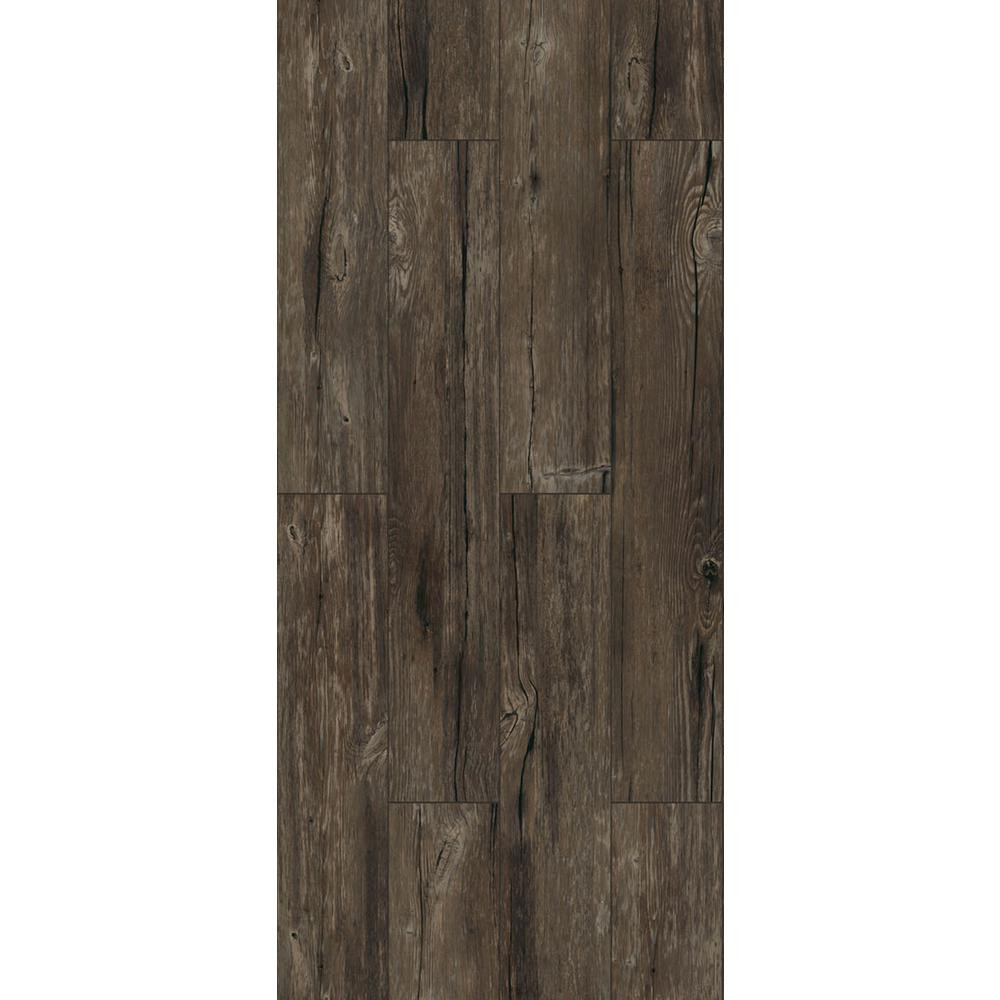 waterproof hardwood flooring home depot of trafficmaster luxury vinyl planks vinyl flooring resilient pertaining to walnut ember grey 6 in x 36 in peel and stick vinyl plank