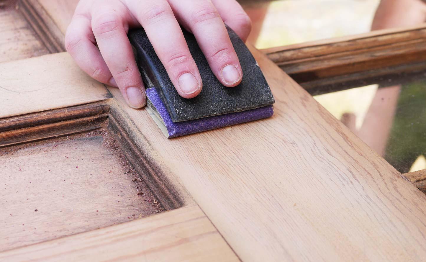wax pencil for hardwood floor of how to refinish a wood door bauen diy home improvement throughout how to refinish wood door sand pencil marks