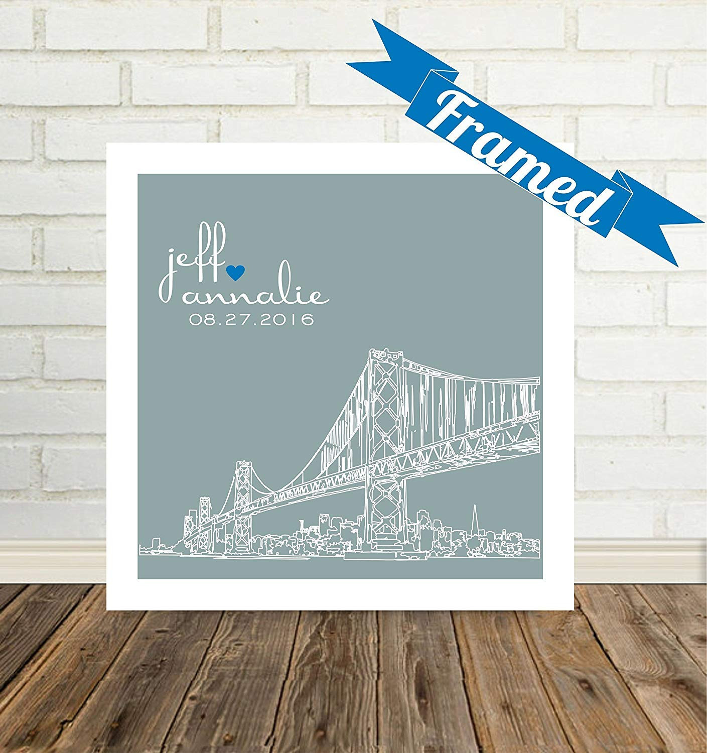 welles hardwood flooring reviews of amazon com personalized wedding gift framed art san francisco pertaining to amazon com personalized wedding gift framed art san francisco skyline unique wedding gift for couple any city available worldwide handmade