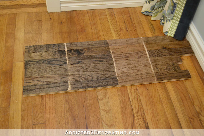 white oak hardwood flooring stains of finishing red oak flooring home design ideas for testing stain colors for my red oak hardwood floor